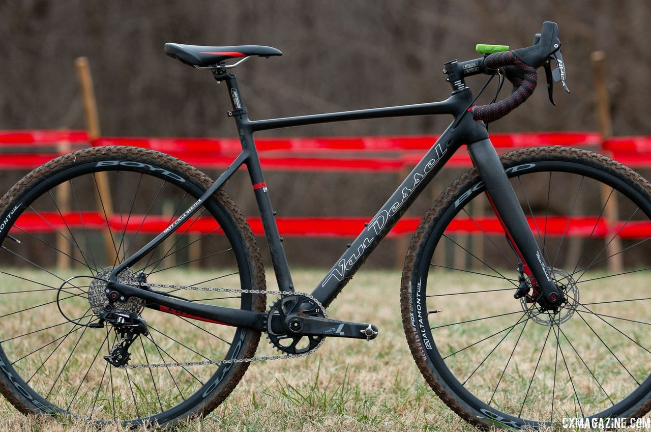 Holly LaVesser's Masters 35-39 title-winning Van Dessel Full Tilt Boogie. 2018 Cyclocross National Championships, Louisville, KY. © A. Yee / Cyclocross Magazine