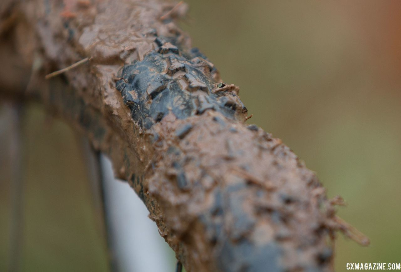 Fellow Colorado company Donnelly is the team's tire sponsor. Clouse ran, not surprsingly, PDX mud tubulars. Katie Clouse's Moots Psychlo X RSL. 2018 Cyclocross National Championships V2. Louisville, KY. © Cyclocross Magazine