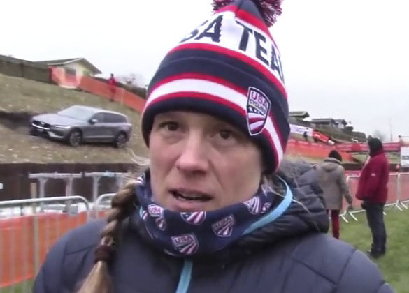 Katie Compton, 2019 Worlds course inspection