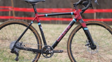 Paul McKeithan's Masters 75-79 title-winning Grava Maple Sally cyclocross bike. 2018 Cyclocross National Championships, Louisville, KY. © A. Yee / Cyclocross Magazine