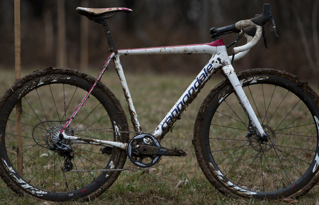 Stephen Hyde's title-winning Cannondale. 2018 Cyclocross National Championships V2. Louisville, KY. © Cyclocross Magazine