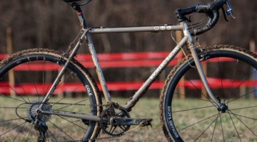 Dan Chabanov's Richard Sachs cyclocross bike. 2018 Cyclocross National Championships, Louisville, KY. © A. Yee / Cyclocross Magazine