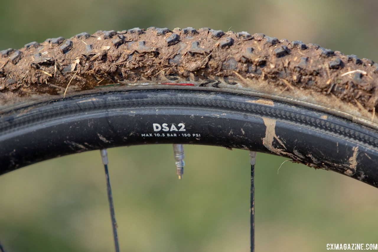 Cole T38 Lite wheels offer a low claimed weight of 1,280g. Dan Chabanov's Richard Sachs cyclocross bike. 2018 Cyclocross National Championships, Louisville, KY. © A. Yee / Cyclocross Magazine
