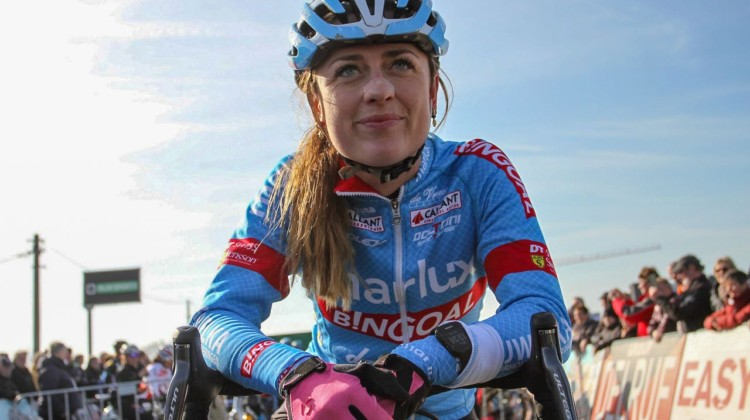 Denise Betsema has plenty to smile about after a breakout season. 2019 Telenet Superprestige Noordzeecross Middelkerke. Elite Women. © B. Hazen / Cyclocross Magazine