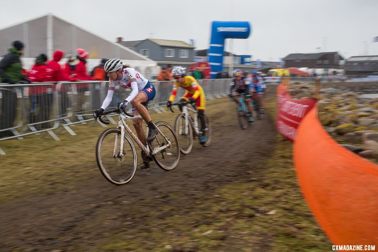 The season is winding down for Helen Wyman and the women's 'cross peloton. Elite Women, 2019 Cyclocross World Championships, Bogense, Denmark. © K. Keeler / Cyclocross Magazine