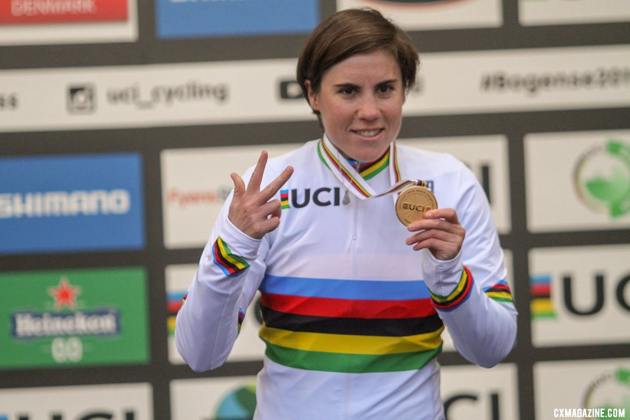 Three-time World Champion Sanne Cant will head up the IKO - Crelan team. 2019 Cyclocross World Championships, Bogense, Denmark. © B. Hazen / Cyclocross Magazine