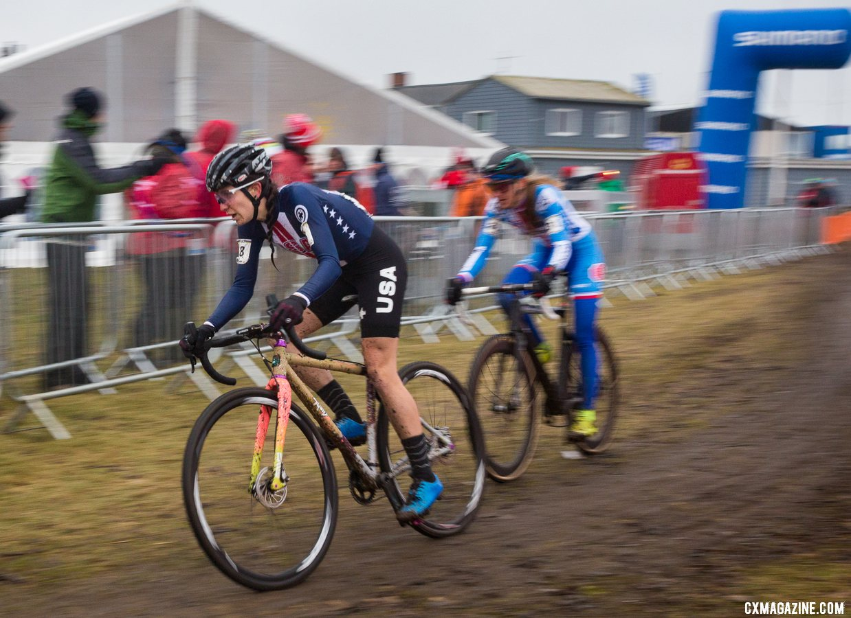 Sammi Runnels. Elite Women. 2019 Cyclocross World Championships, Bogense, Denmark. © K. Keeler / Cyclocross Magazine