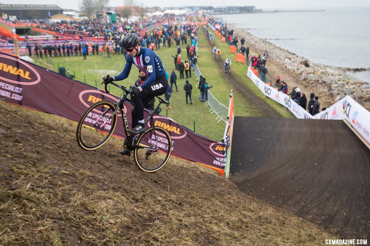 Junior Men, Team USA, 2019 Cyclocross World Championships, Bogense, Denmark. © K. Keeler / Cyclocross Magazine