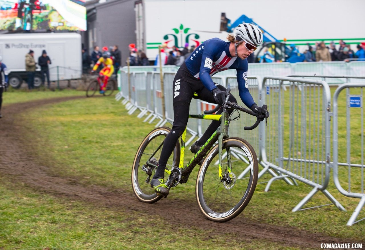 Spencer Petrov. Team USA U23 Men. 2019 Cyclocross World Championships, Bogense, Denmark. © K. Keeler / Cyclocross Magazine