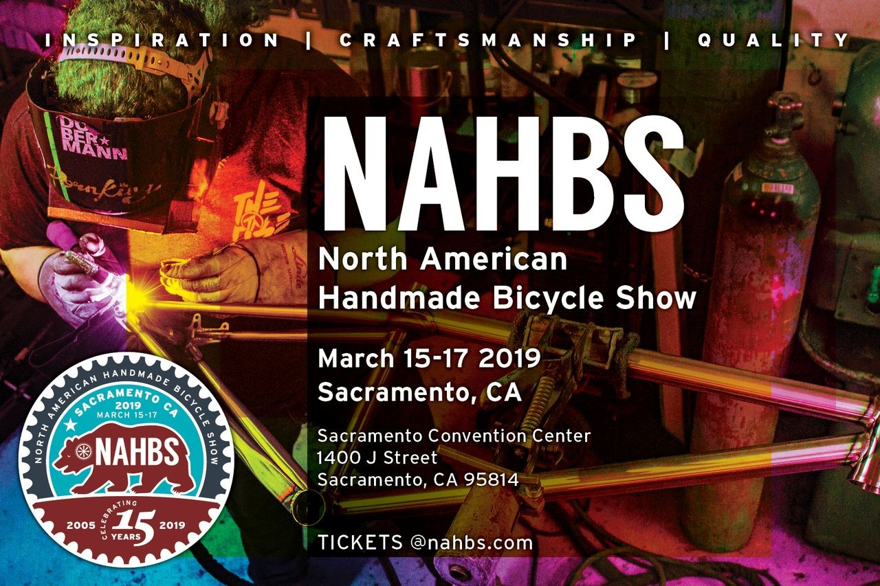 Registration is now open for the 2019 North American Handmade Bike Show in Sacramento.