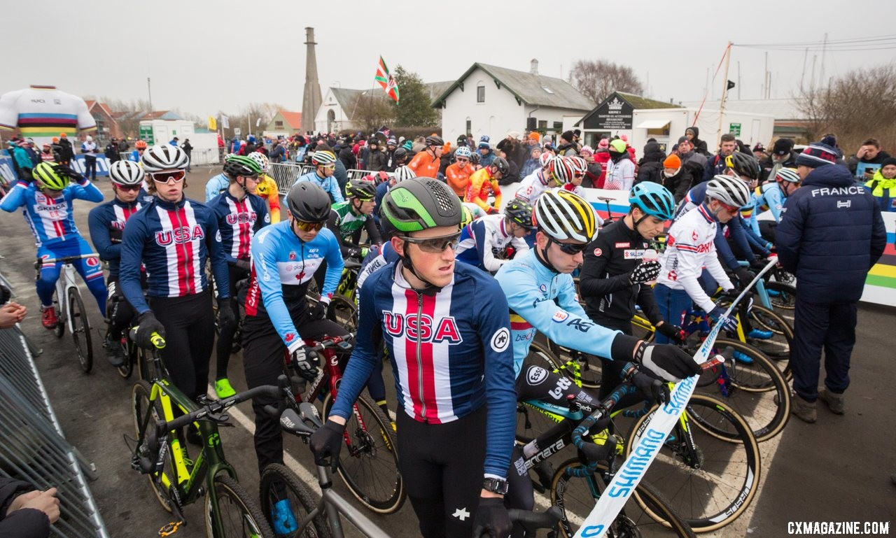 U23 Men, 2019 Cyclocross World Championships, Bogense, Denmark. © K. Keeler / Cyclocross Magazine
