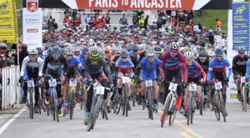 It's going to be a star-studded start line at the 2019 Paris to Ancaster Gravel race. photo: Greening Media