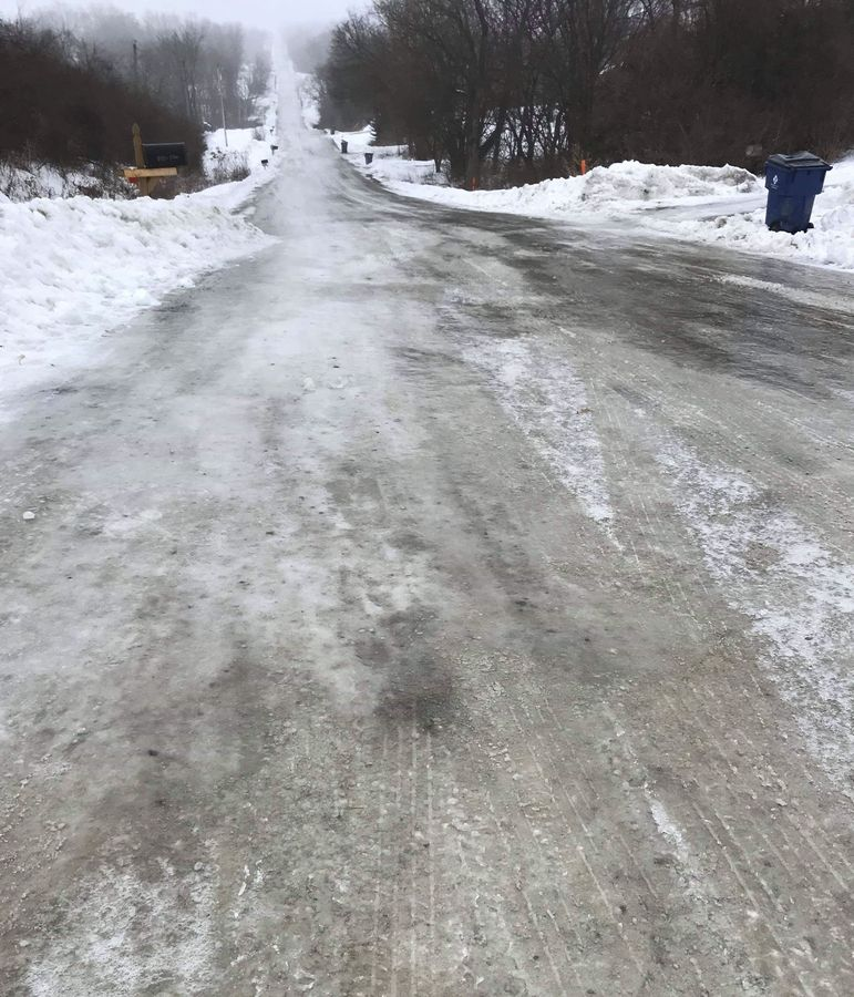 CIRREM has plenty of hills. This year, they were covered in ice. 2019 CIRREM Gravel Race. photo: CIRREM