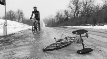 Riders who sign up for CIRREM have to be ready to embrace the suck of February in Iowa. 2019 CIRREM Gravel Race. photo: CIRREM