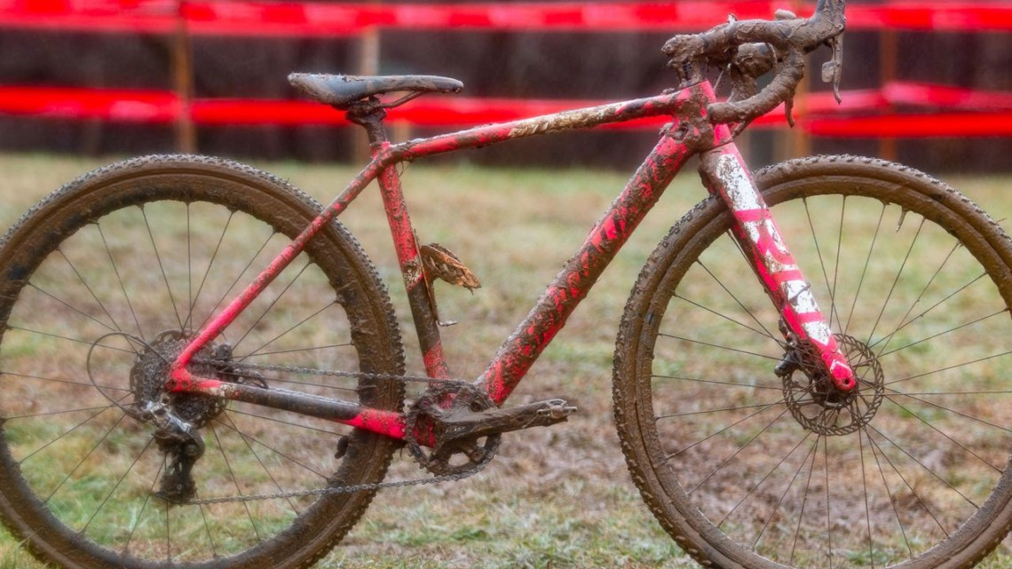 Eire Chen's Specialized Crux. Junior Women 11-12. 2018 Cyclocross National Championships, Louisville, KY. © A. Yee / Cyclocross Magazine