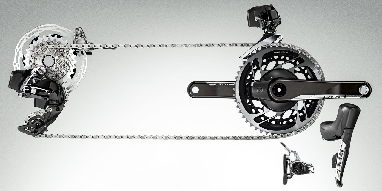 SRAM unveils its new family of 12-speed electronic components for road, cx, gravel, and mtb, called AXS.