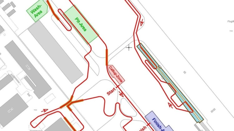 2020 Dübendorf Worlds preliminary course map