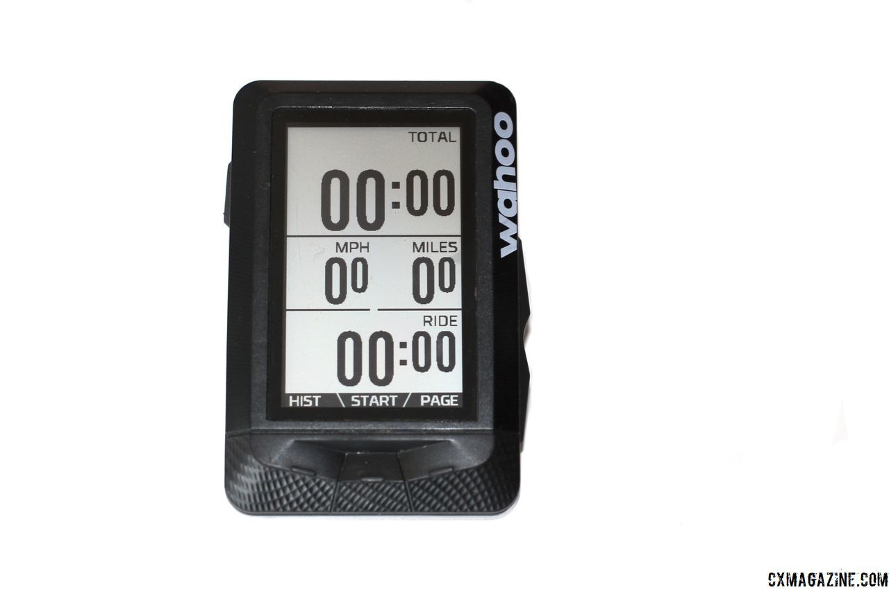 The $330 Wahoo Elemnt GPS Cycling Computer. © Z. Schuster / Cyclocross Magazine