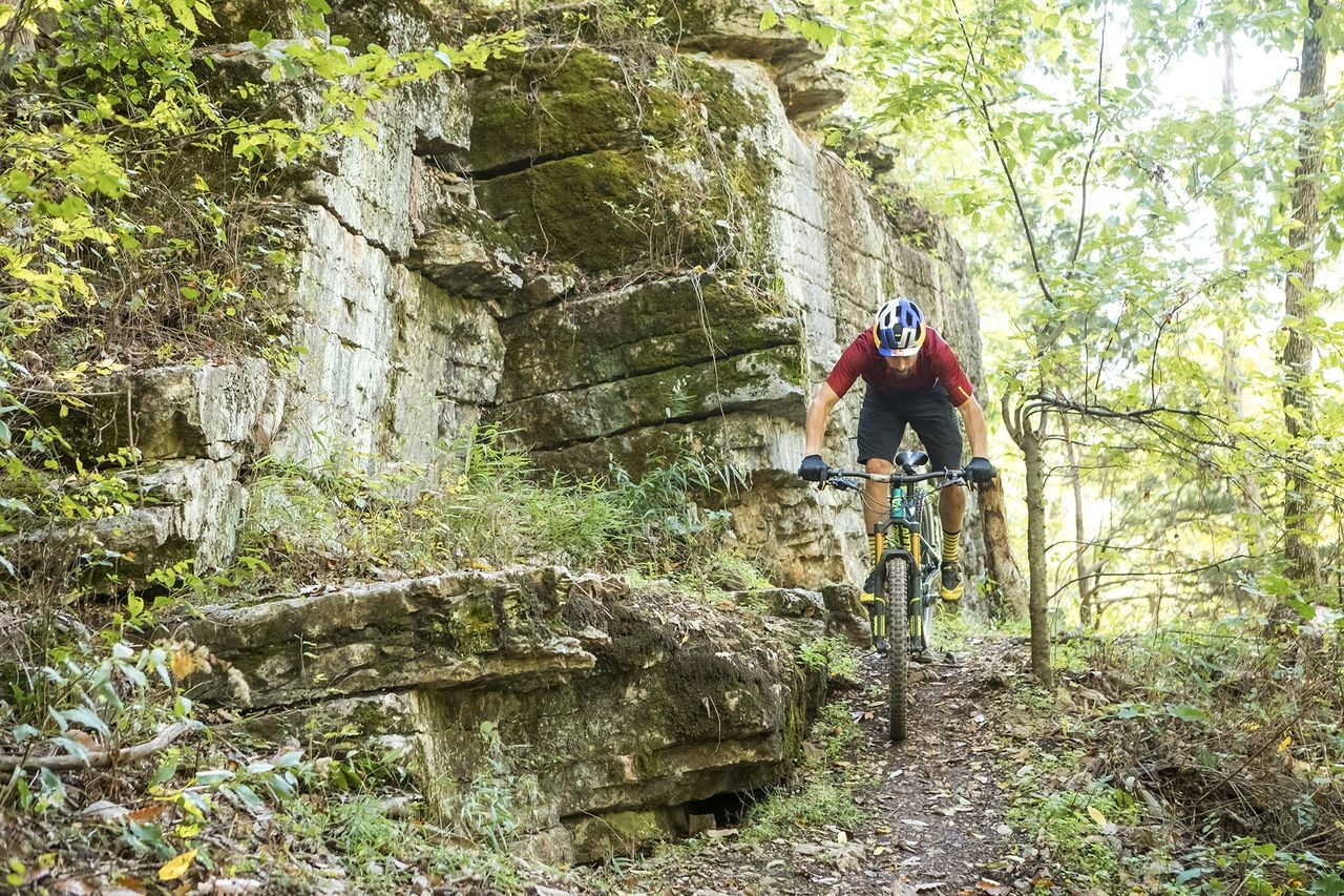 Tim Johnson has been an adviser for the Fayetteville 2022 bid. He also headed down to race the OZ Trails Epic Rides Off-Road Race. photo: Bike NWA