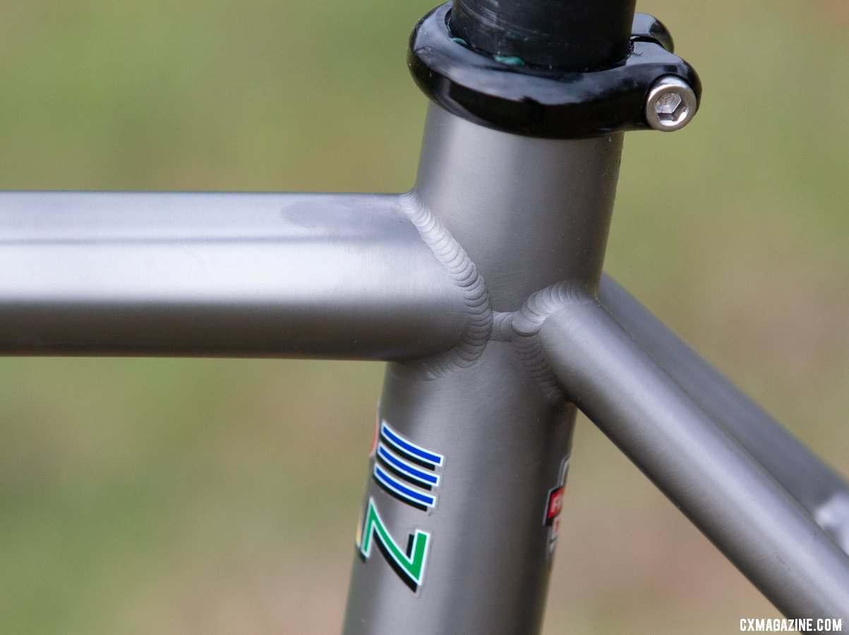 Welded in Boulder, Co. Dean Bikes Team Edition titanium cyclocross. © A. Yee / Cyclocross Magazine
