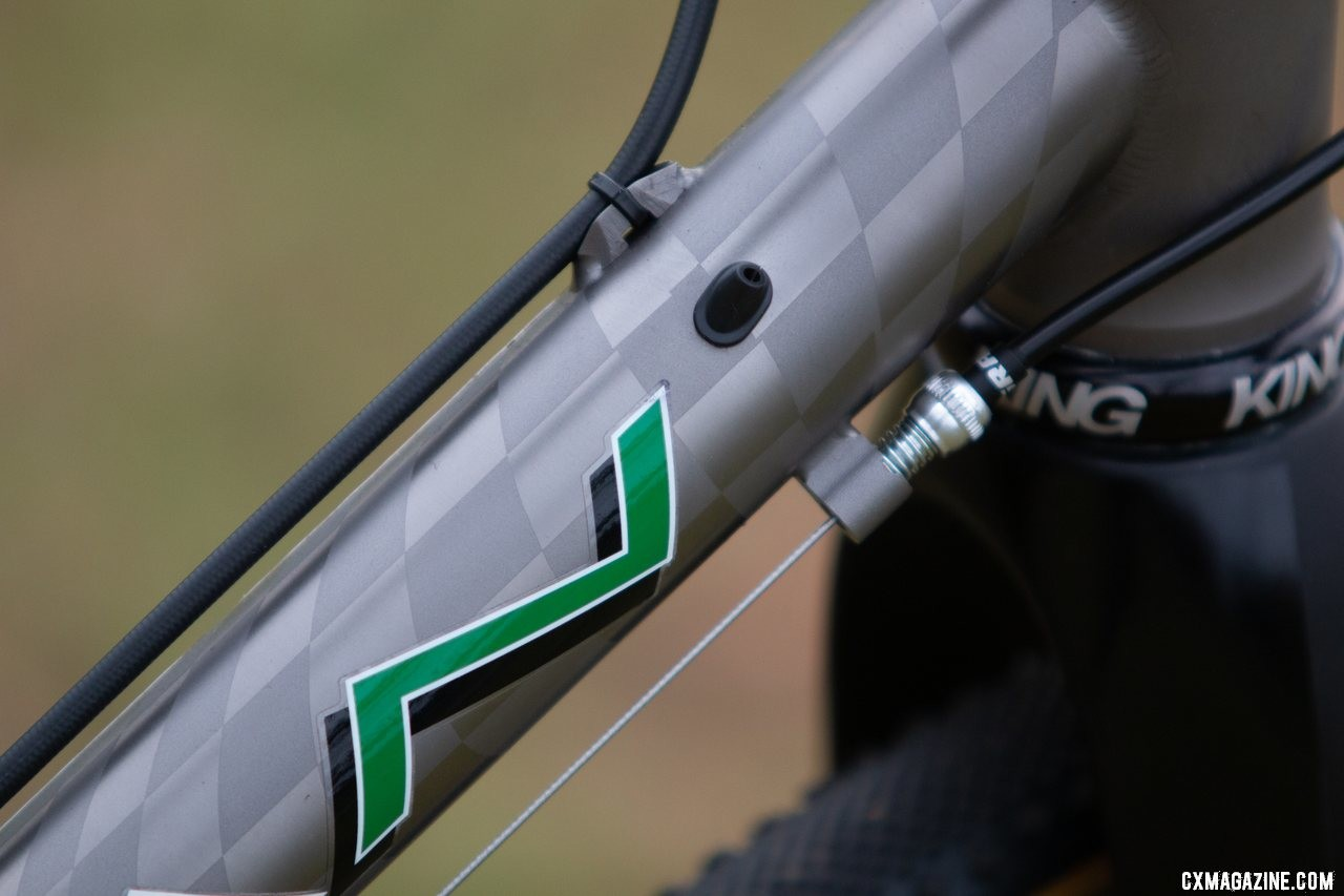 The Dean Bikes Team Edition titanium cyclocross is electronic wire-ready. © A. Yee / Cyclocross Magazine