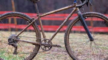 Vida Lopez de San Roman's Sycip cyclocross bike. 2018 Cyclocross National Championships V2. Louisville, KY. © Cyclocross Magazine