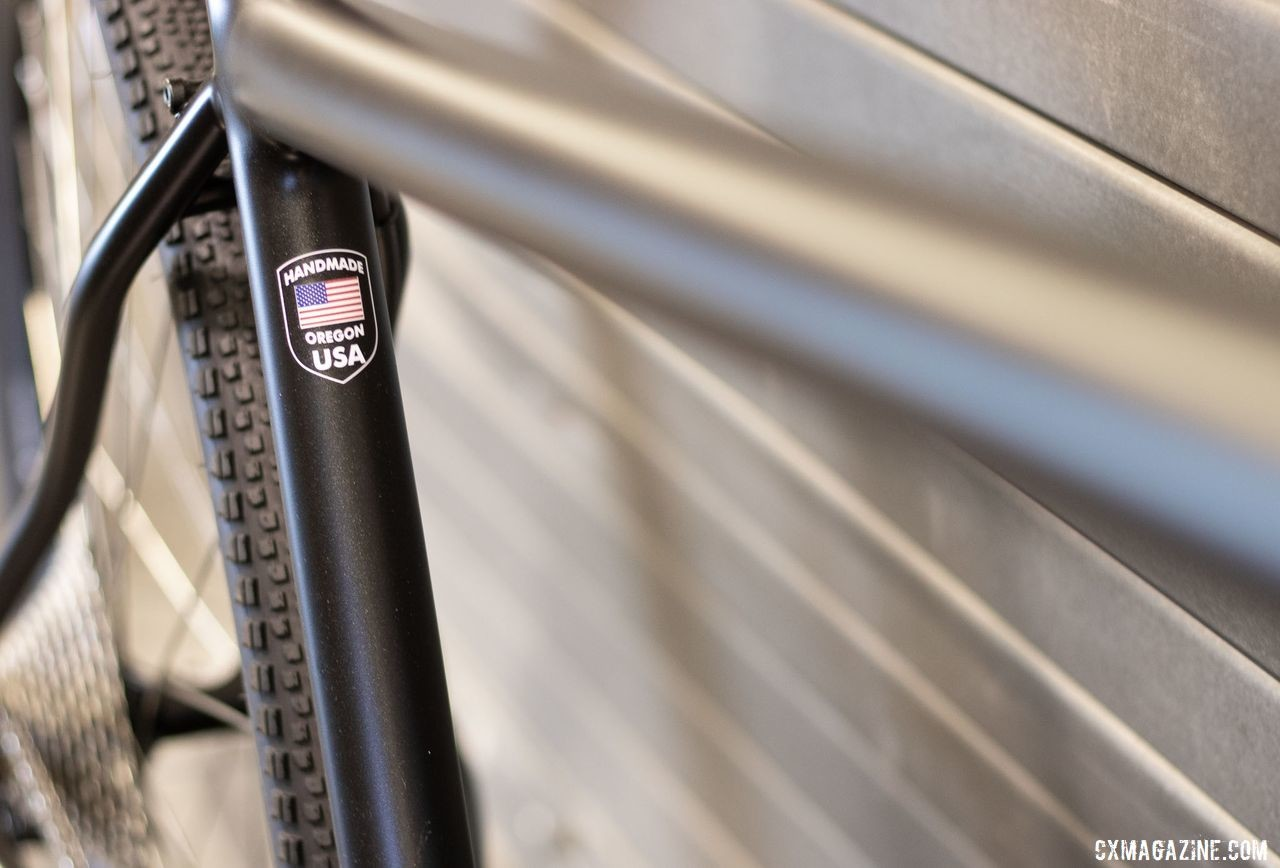 Co-Motion builds its bikes by hand in Oregon. was one of two companies showing off a gravel tandem at 2019 NAHBS Sacramento. © A. Yee / Cyclocross Magazine