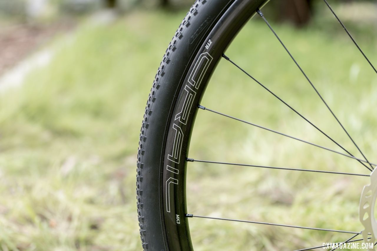 The Vault comes with the new Stan's Grail MK3 alloy rims with Maxxis Rambler gravel tires mounted. Pivot Vault Cyclocross/Gravel Bike. © C. Lee / Cyclocross Magazine