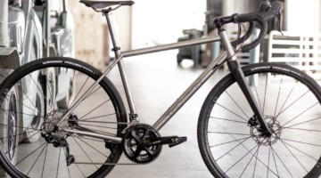 Thomson's Taiwan-built titanium gravel bike is coming soon. 2019 NAHBS Sacramento. © A. Yee / Cyclocross Magazine