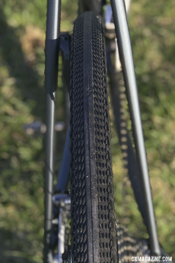 Bouchard-Hall runs Specialized Pathfinder tires 38mm wide for gravel. Kevin Bouchard-Hall's S-Works CruX Cyclogroad Bike, 2019 Rasputitsa Gravel Race. © K. Bouchard-Hall