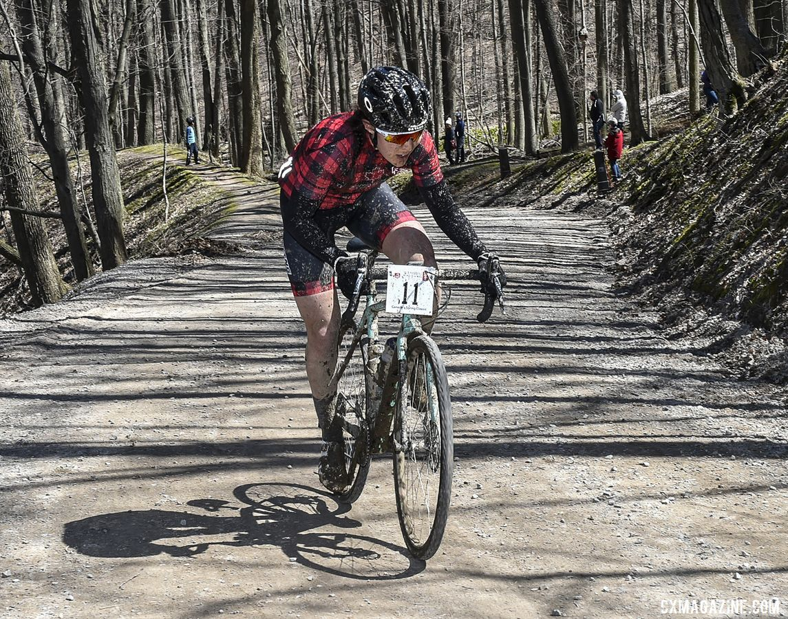 Jenn Jackson took the Women's win. 2019 Paris to Ancaster. © Rob Jones