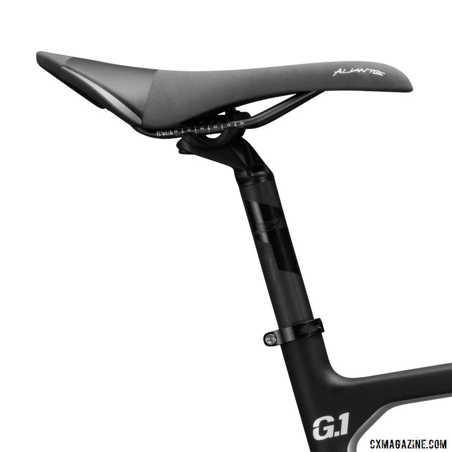 The G1 Force comes with a Fizik Aliante R3 saddle and Zipp Service Course seatpost. Viathon G1 Gravel Bike Launch