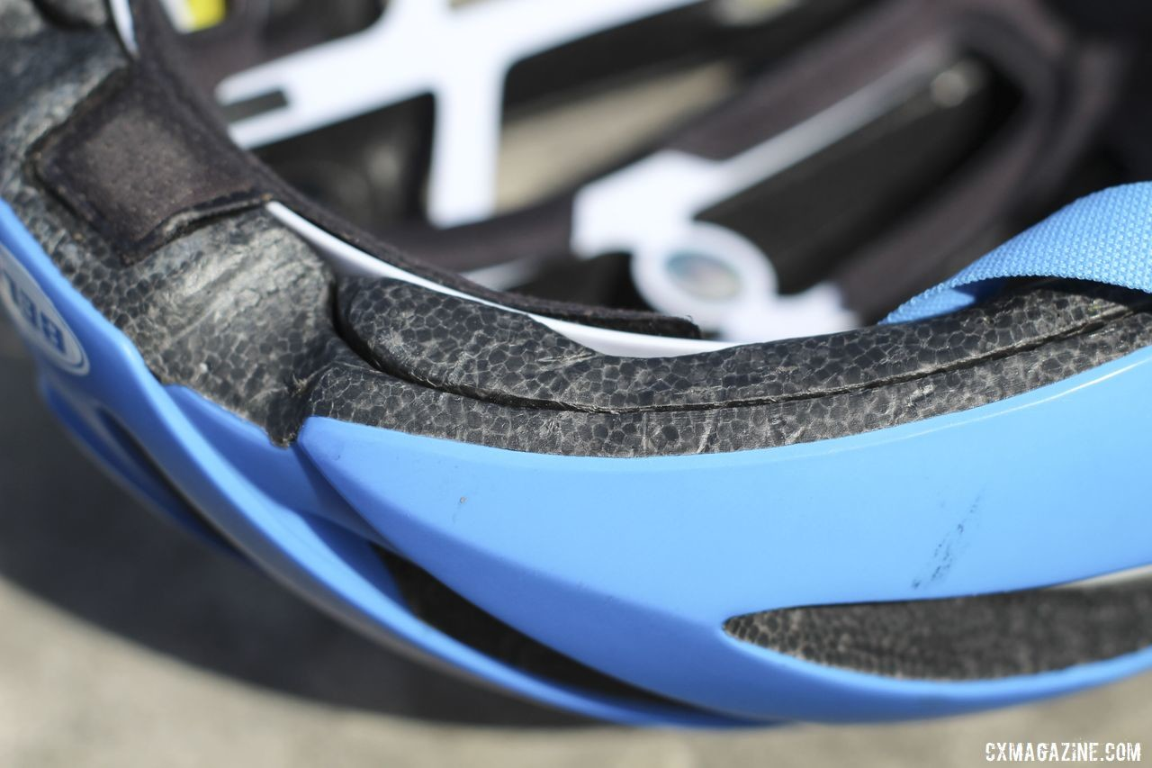 Bell uses a layered approach for building the Z20 MIPS. Bell Z20 MIPS Bicycle Helmet. © Z. Schuster / Cyclocross Magazine