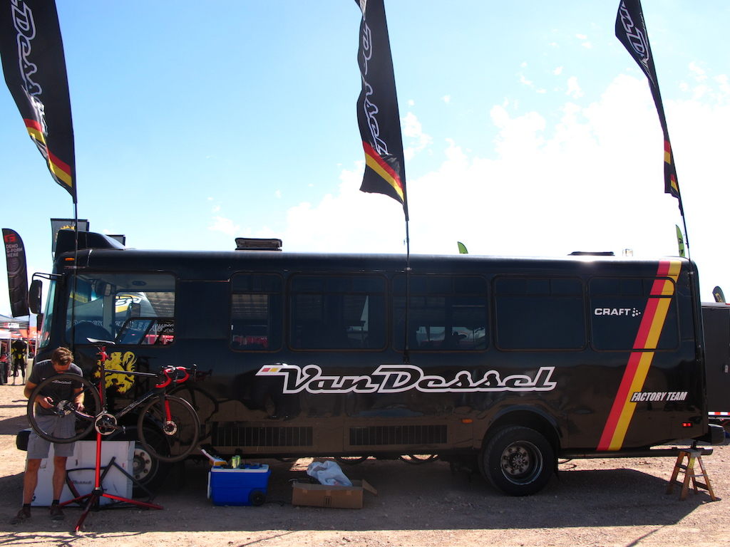 Edwin Bull brought the Van Dessel RV to many a cyclocross race and expo. photo: courtesy