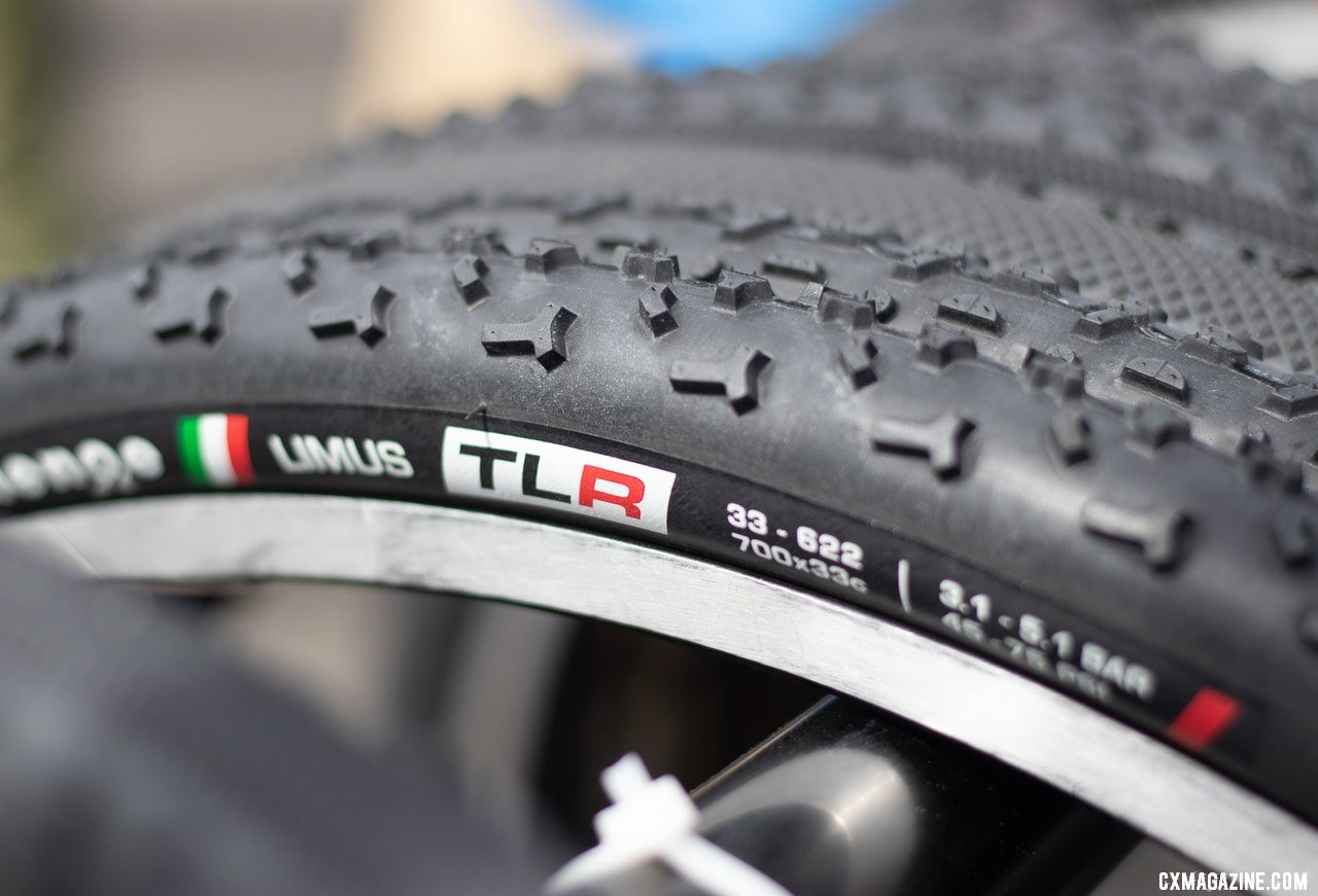 We didn't see them last season, but the tubeless TLR cyclocross tires are now in production. 2019 Sea Otter Classic. © A. Yee / Cyclocross Magazine