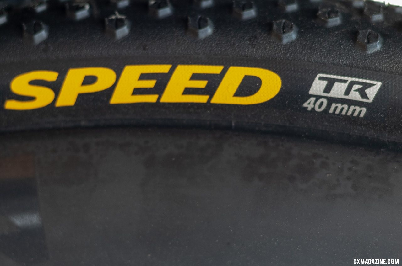 We're guessing the TR on the new Terra Speed means Tubeless Ready. Continental Tubeless Tires, 2019 Sea Otter Classic. © A Yee / Cyclocross Magazine