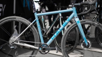 Haley Cycles new made-in-USA titanium gravel frameset retails for $3999, and includes cusotm paint. 2019 Sea Otter Classic. © A. Yee / Cyclocross Magazine