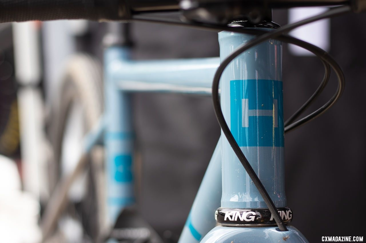 Haley Cycles includes custom paint with every frameset purchase. 2019 Sea Otter Classic. © A. Yee / Cyclocross Magazine