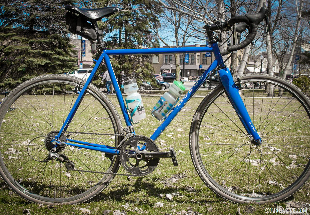 Nikola Perego's Horse Gravel Bike, 2019 Barry-Roubaix. © B. Grant / Cyclocross Magazine