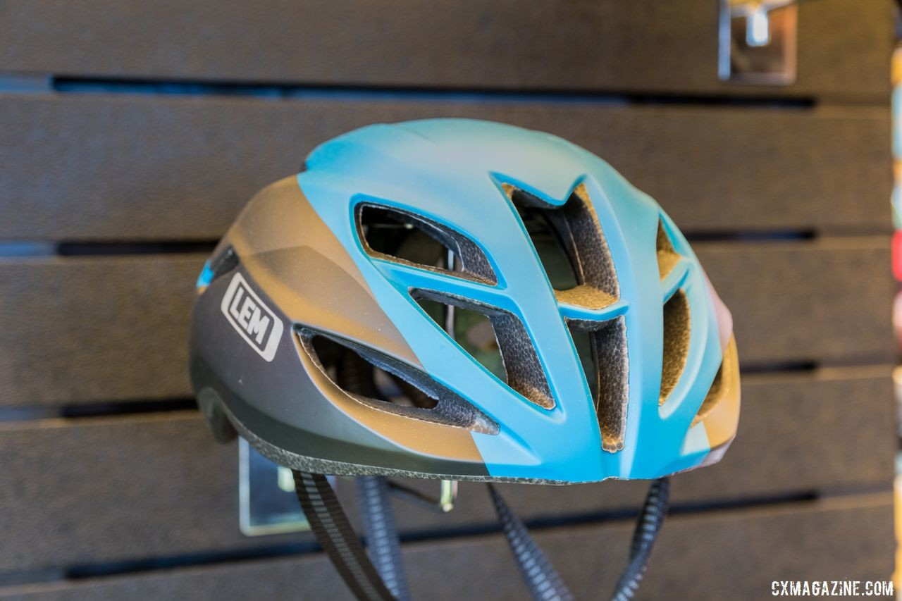 The Volata is LEM's aero road helmet. LEM Helmets, 2019 Sea Otter Classic. © C. Lee / Cyclocross Magazine