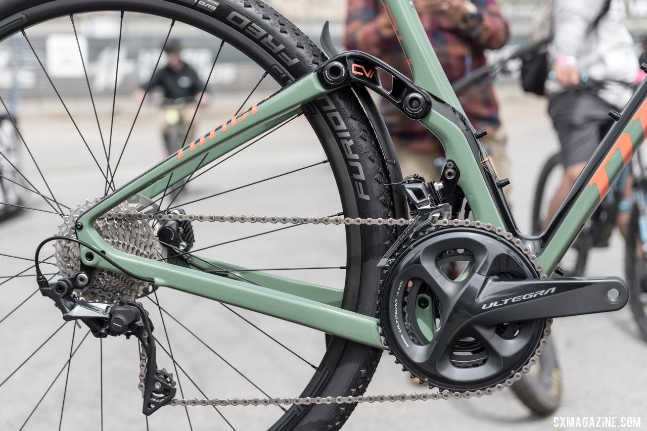 "Although the MCR has a rear suspension, the company says it is still a gravel bike, not a drop bar mountain bike. Niner Bikes MCR 9 RDO ""Magic Carpet Ride,"" 2019 Sea Otter Classic © C. Lee"