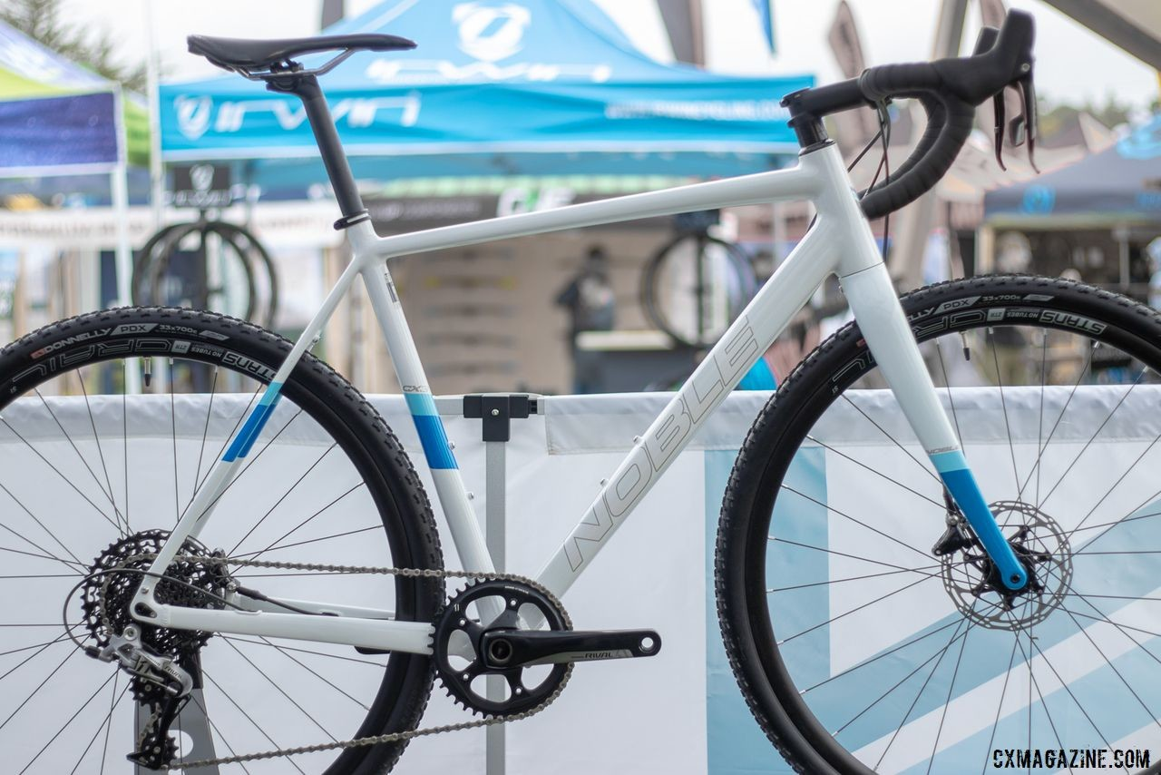 The Noble cyclocross CX3 aluminum bike paris SRAM Rival 1 and Stans NoTubes wheels to create a value-oriented race bike at $1999. 2019 Sea Otter Classic. © A. Yee / Cyclocross Magazine