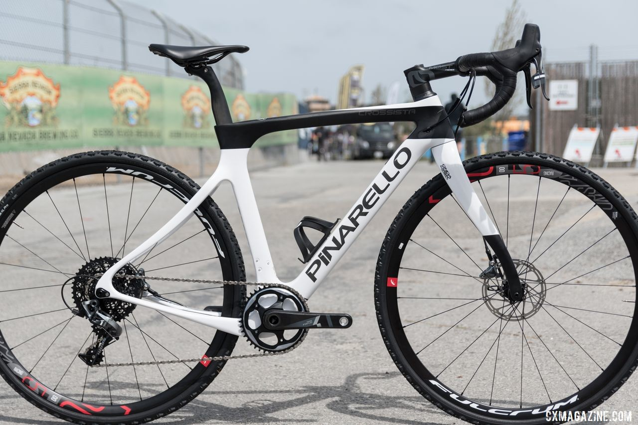 The Crossista is Pinarello's new race-designed cyclocross bike. Pinarello Crossista Cyclocross Bike. © C. Lee / Cyclocross Magazine