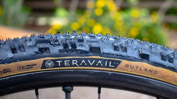 Teravail's Rutland, its latest gravel and mixed terrain tire, was a snap to set up with a compressor pump. © Cyclocross Magazine