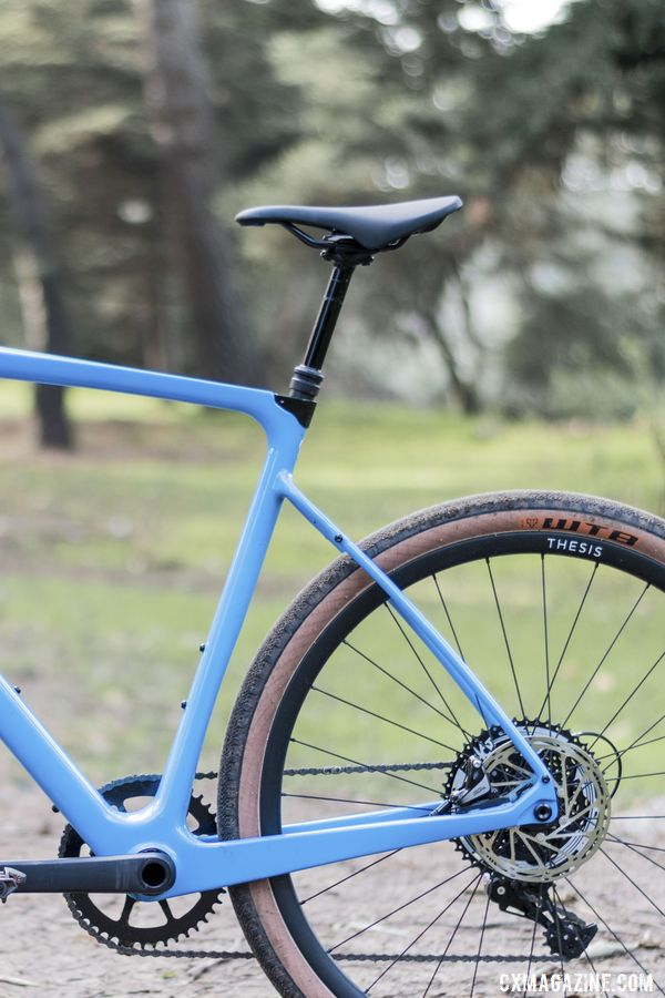 The dropper post made the OB1 extra fun. Thesis OB1 Do-It-All Carbon Bike. © C. Lee / Cyclocross Magazine