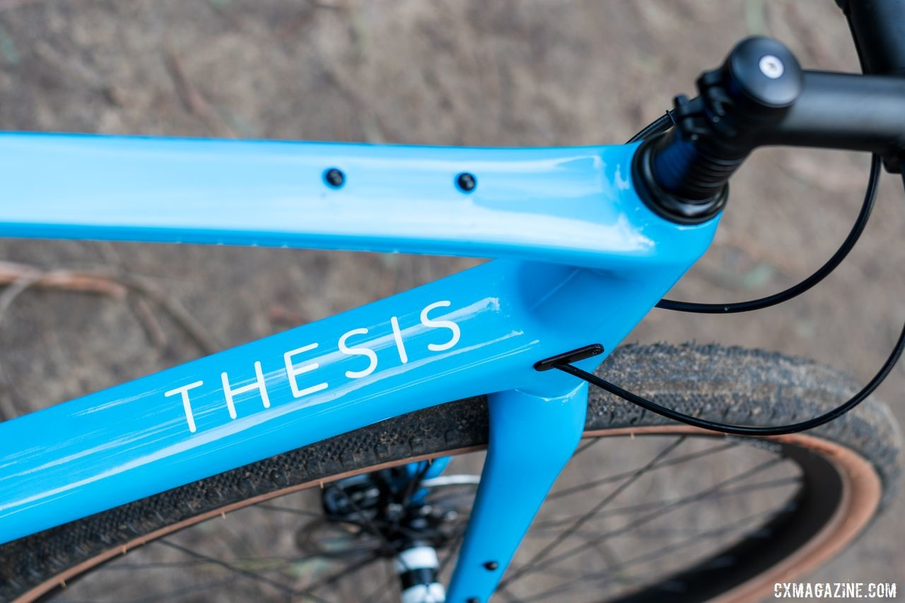 One of the many mounts is for a top tube bento box bag. Thesis OB1 Do-It-All Carbon Bike. © C. Lee / Cyclocross Magazine