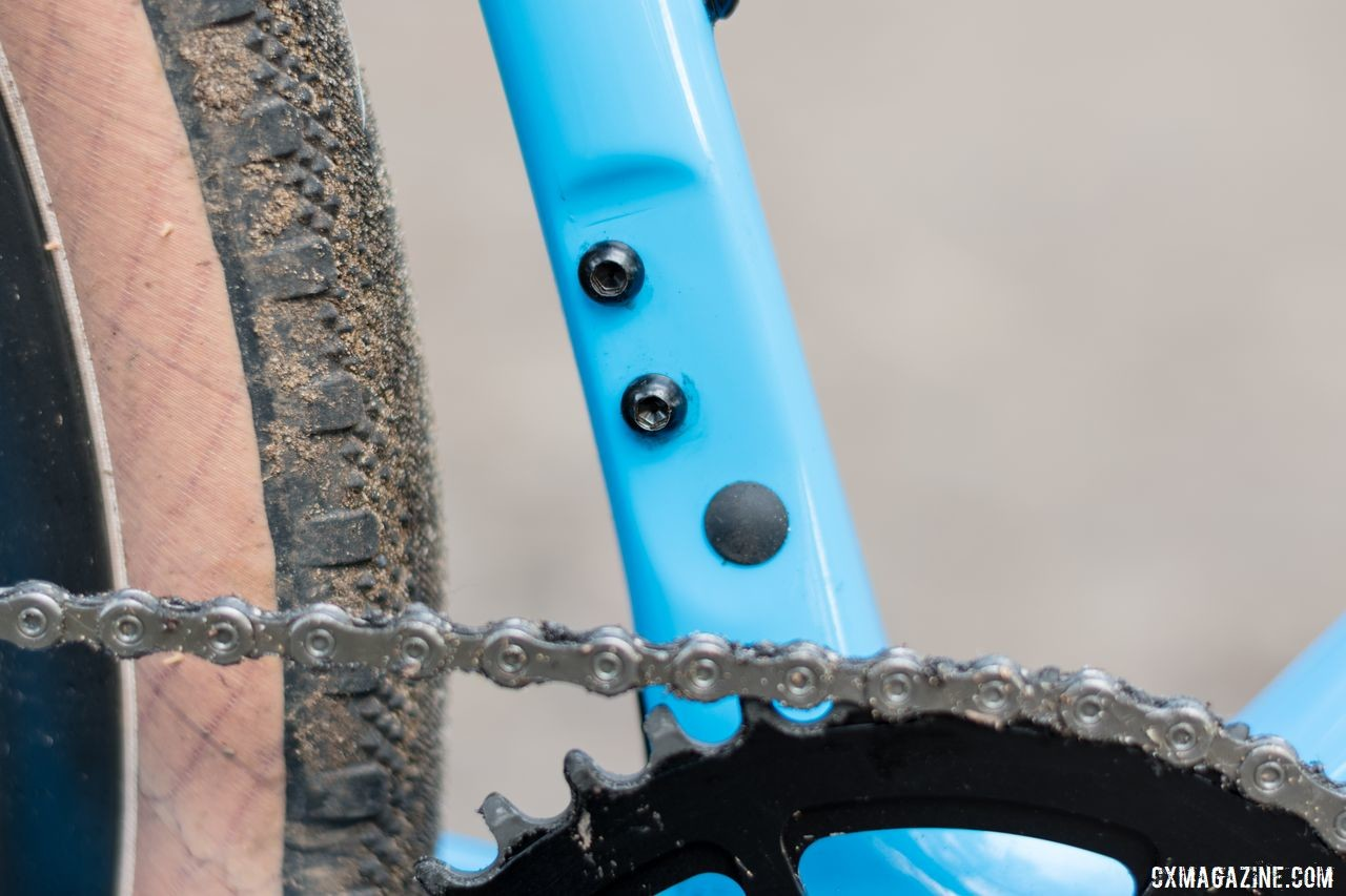The bike comes with a mount for a front derailleur, but our bike was set up 1x. Thesis OB1 Do-It-All Carbon Bike. © C. Lee / Cyclocross Magazine