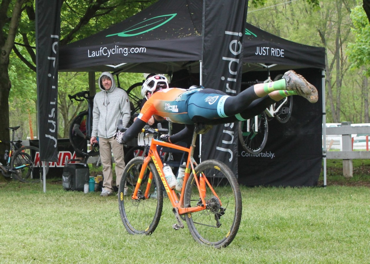 The race has cultivated a fun post-race vibe. 2019 Black Fork Gravel Grinder, Ohio. © Alecia Simpson