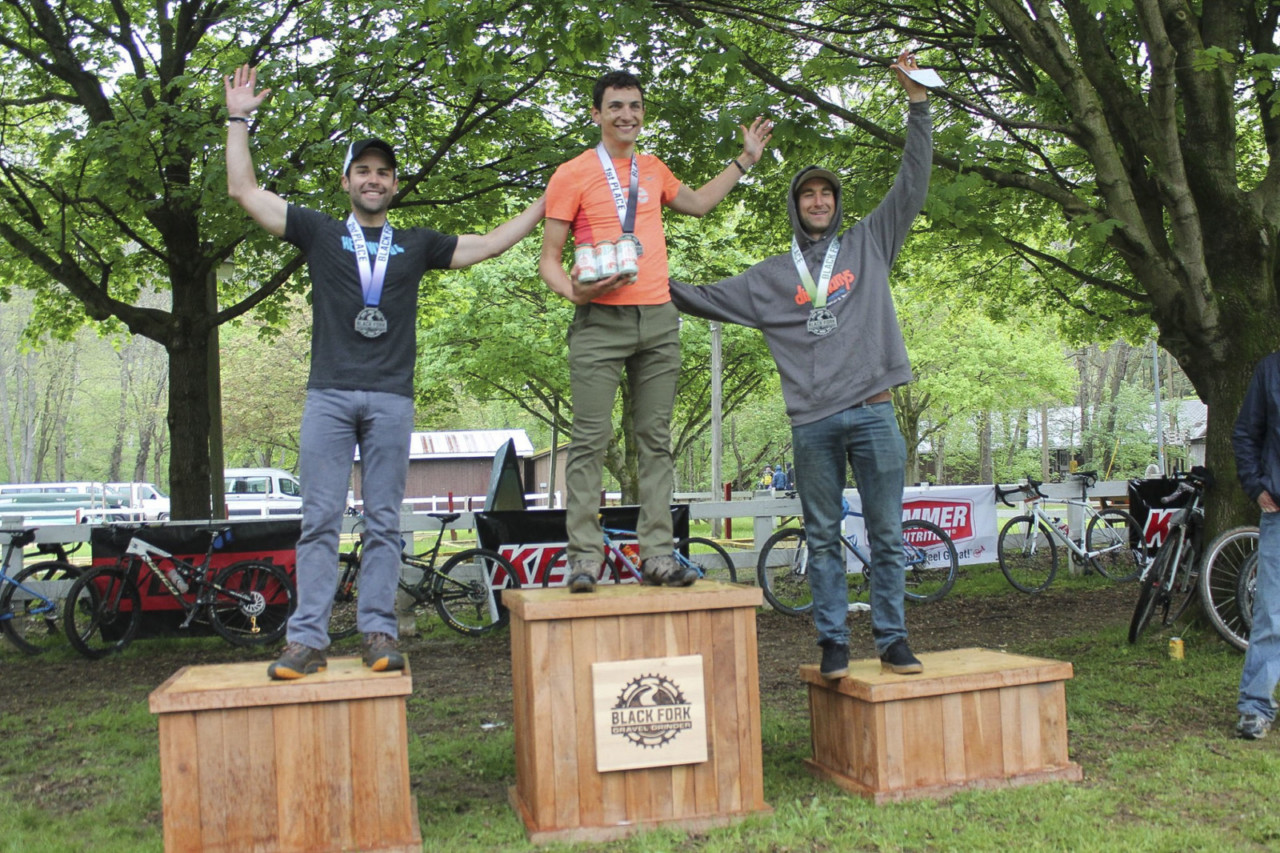 Men's podium. 2019 Black Fork Gravel Grinder, Ohio. © Alecia Simpson