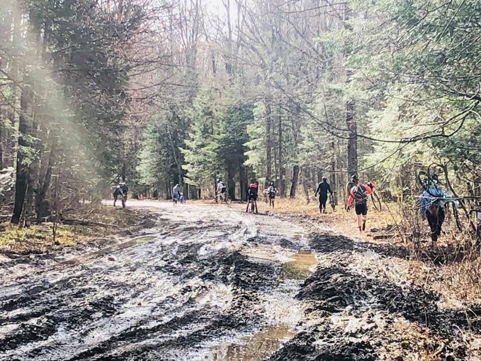 This year's route featured some very muddy sections. 2019 Bear 100 Gravel Race, Wisconsin. © The Bear 100